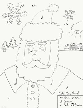 Color by Note - Christmas Santa