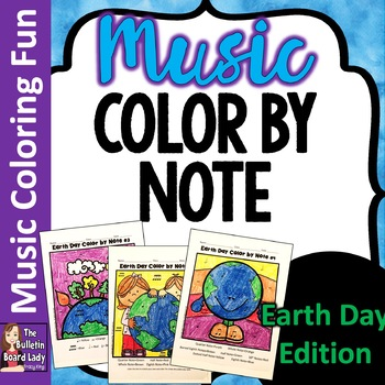 Color by Note -Earth Day