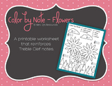 Color by Note - Flowers