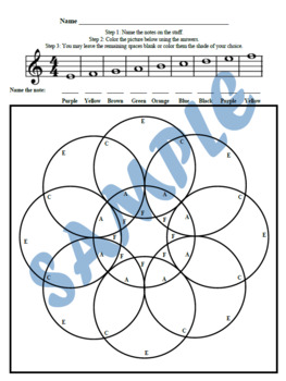 Color by Note Geometric Theory Worksheets