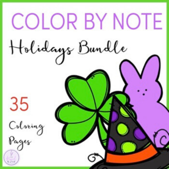 Color by Note Holidays Bundle