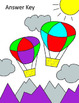 Color by Note - Hot Air Balloon - Rhythm (Quarter/Eighth/Half/Whole/Dotted Half)