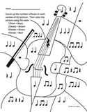 Color by Note: Instrument Bundle: Quarter/Eighth/Half/Whole Notes