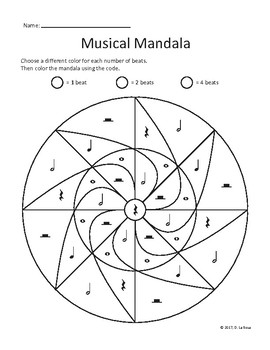 Color by Note Musical Mandalas - Includes 2 Designs
