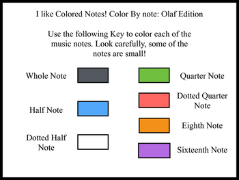 """Color by Note - """"Olaf"""" Edition"""