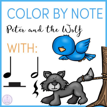 Color by Note Peter and the Wolf