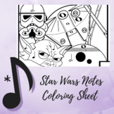 """Color by Note - The Music Strikes Back """"Star Wars"""" Edition"""