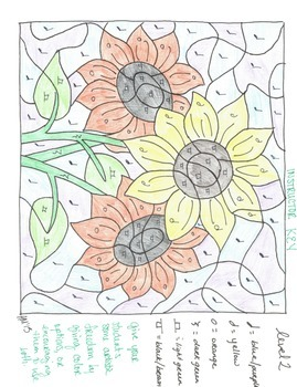 Color by Note - Sunflowers