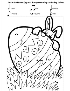 Color by Note for Easter Worksheet Bundle