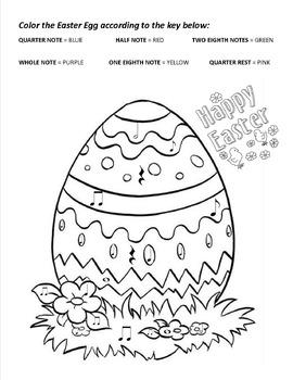 Color by Note for Easter Worksheet Bundle