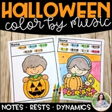 Halloween Color by Music {Notes, Rests, Dynamics}
