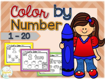Color by Number 1 - 20