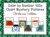 Color by Number 100 Chart Mystery Pictures: Christmas Edition