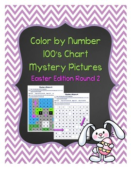 Color by Number 100 Chart Mystery Pictures: Easter Edition Round 2