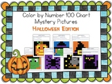 Color by Number 100 Chart Mystery Pictures: Halloween Edition