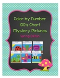 Color by Number 100 Chart Mystery Pictures: Spring Edition