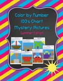 Color by Number 100 Chart Mystery Pictures: Summer Edition