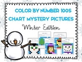 Color by Number 100 Chart Mystery Pictures: Winter Edition