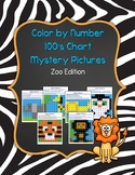 Color by Number 100 Chart Mystery Pictures: Zoo Edition