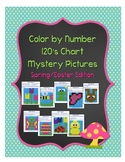 Color by Number 120 Chart Mystery Pictures: Spring/Easter Edition