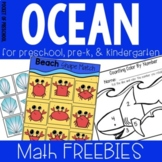 Ocean Theme - Math Games (Counting, Adding, & 2D Shapes)