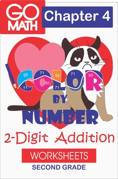 Color by Number/2-Digit Addition/Go Math Second Grade: Chapter 4 Supplement