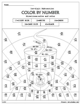 Color by Number/2-Digit Subtraction/Go Math Second Grade: Chapter 5 Supplement