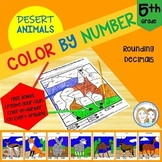 Color by Number - Desert Animals - 5th Grade