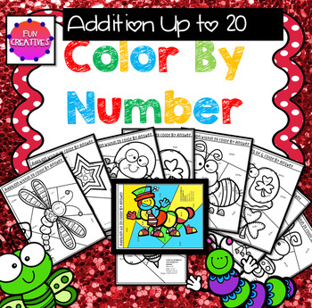 Color by Number Addition 1-20 Pack