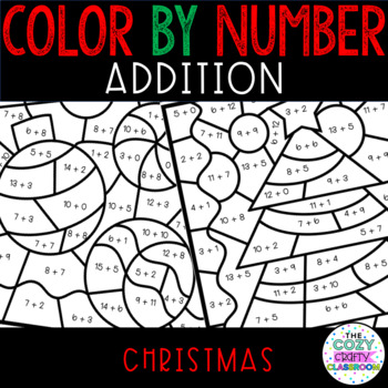 Color by Number Addition (Christmas) by The Cozy Crafty ...