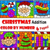 Color by Number Addition Christmas December 6 Pages