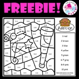 FREE Addition Facts Color by Number Page