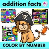 Color by Number Addition Facts Summer 3 Set BUNDLE