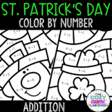 Color by Number Addition (St. Patrick's Day)