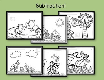 Color by Number: Addition & Subtraction-For any time of the Year!