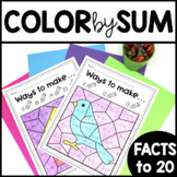 Color by Number Addition - Teen Numbers