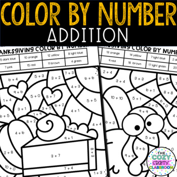Color by Number Addition (Thanksgiving)