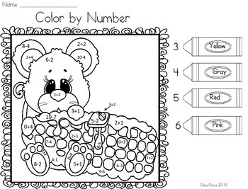 Color by Number: Addition and Subtraction