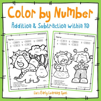 Color by Number: Addition and Subtraction within 10