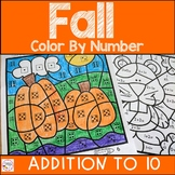 Addition Color By Number- Fall