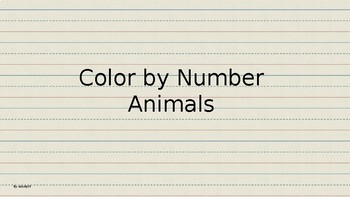 Color by Number Animals PowerPoint