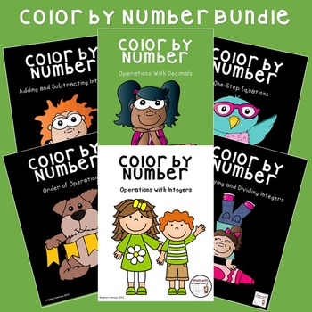 Color by Number BUNDLE:  Operations with Decimals, Operati