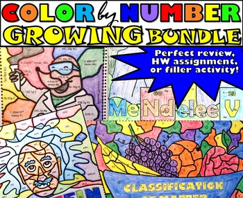 Color by Number - BUNDLE of 6!