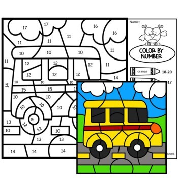 Color by Number Back to School BUNDLE