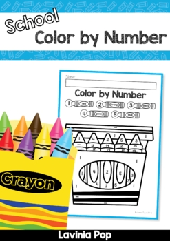 Color by Number Back to School FREE