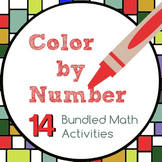 Color by Number Bundle - 14 Activities for 6th Grade Math