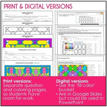 Math Color by Number Bundle (#2) - Grades 6-7