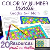 Math Color by Number Bundle (#2) - Grades 6-7