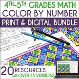 Math Color by Number Bundle (#3) - Grades 4-5