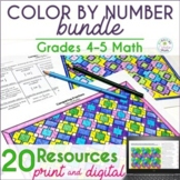 Math Color by Number Bundle (#3) - Grades 4-5